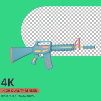 Shoot 3d veteran icon illustration high quality render