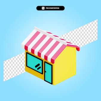 Магазин 3d визуализации изолированных иллюстрация