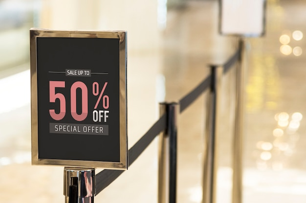 Shop discount signage