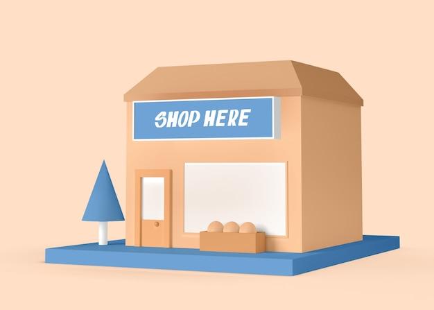 Shop here exterior advert