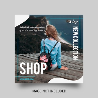 Shop instagram post template