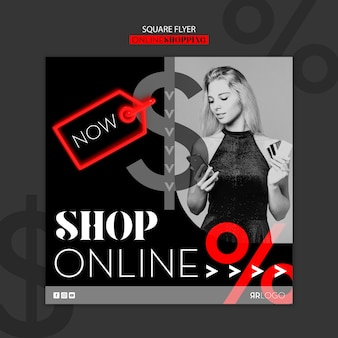 Acquista ora il volantino quadrato di moda online