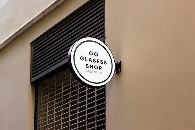 Shop signboard mockup