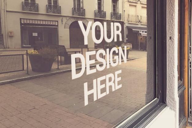 Shop window logo mockup
