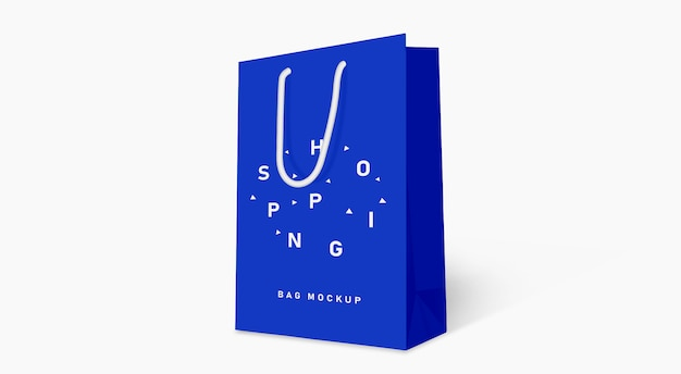 Shopping bag mockup blue