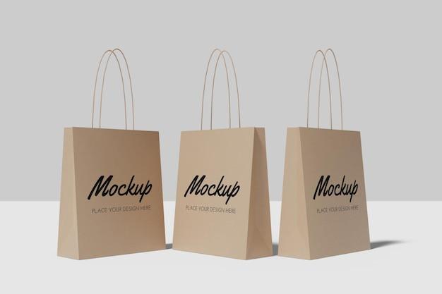 Дизайн макета хозяйственной сумки изолирован