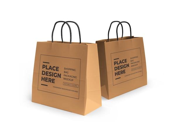 쇼핑백 목업 디자인