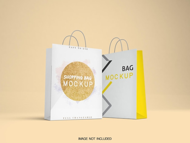 ショッピングバッグのモックアップデザイン