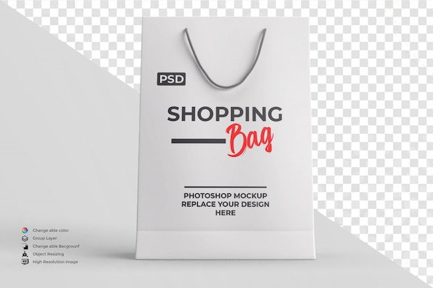 Shopping bag mockup editable color