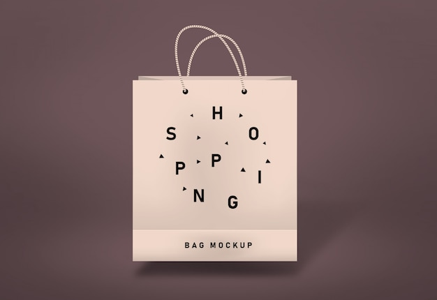 Shopping bag mockup paper bag mockup
