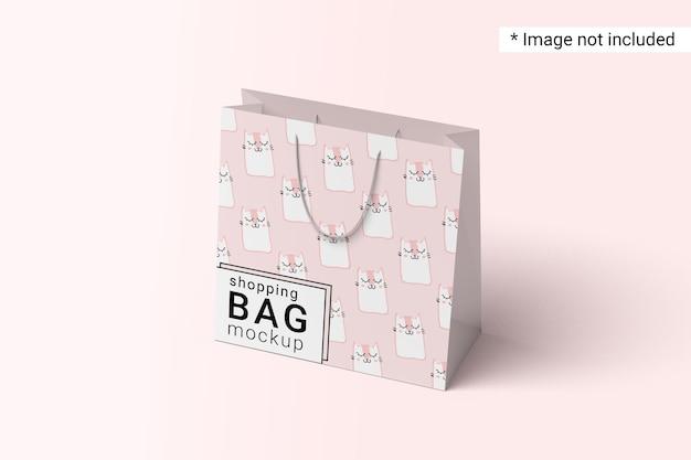Shopping bag mockup right view