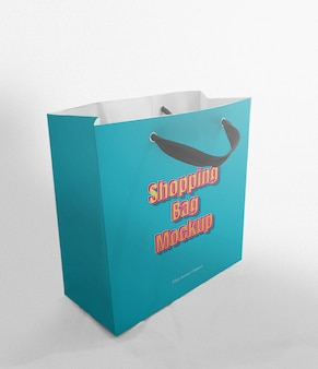 Shopping bag mockup template