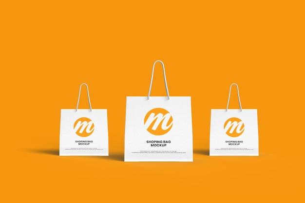 쇼핑백 또는 호출기 가방 모형 디자인