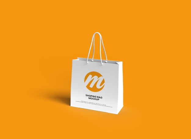 쇼핑백 또는 종이 봉지 모형 디자인