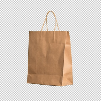 Shopping bag over white background