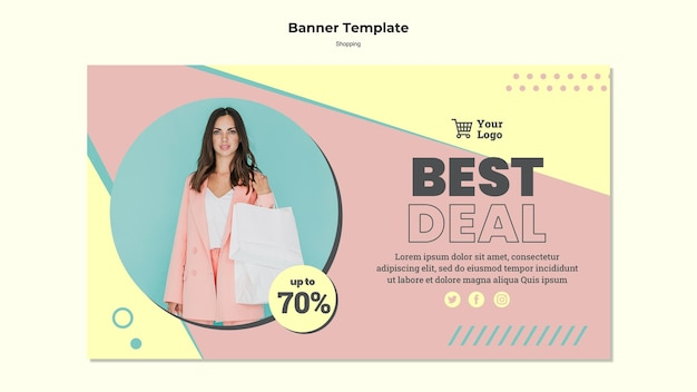 Shopping best deal banner template