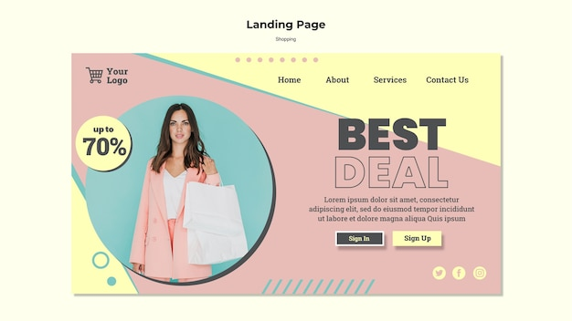 Shopping best deal landing page