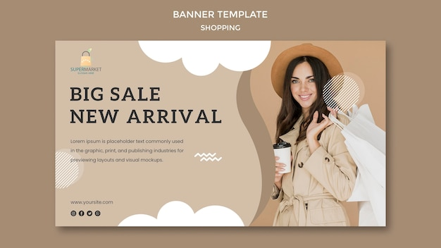 Shopping big sale banner template