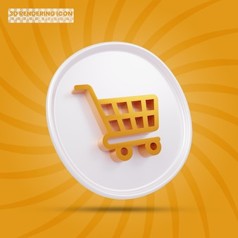 Shopping cart 3d rendering icon