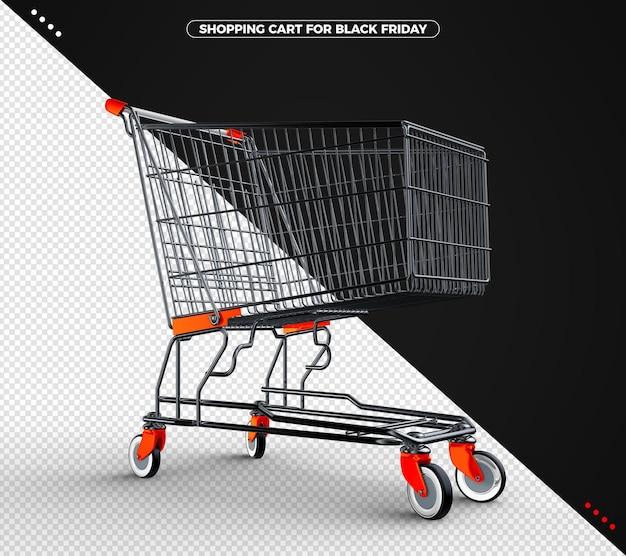 오렌지와 블랙 프라이데이 블랙 쇼핑 카트