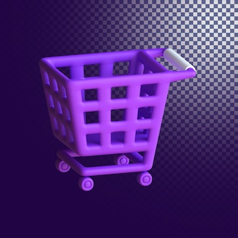 Shopping cart icon high quality 3d rendered isolated