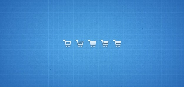 Shopping cart icons  psd png