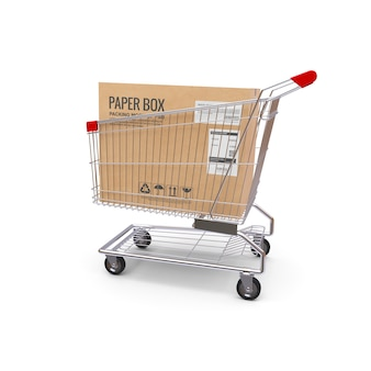 Shopping cart with box