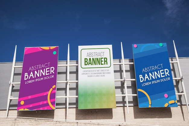 Shopping center billboard mockup