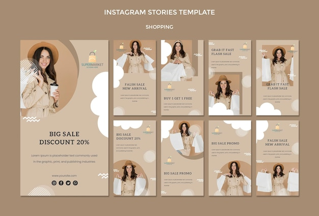 Shopping instagram stories template