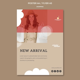 Shopping new arrival flyer template