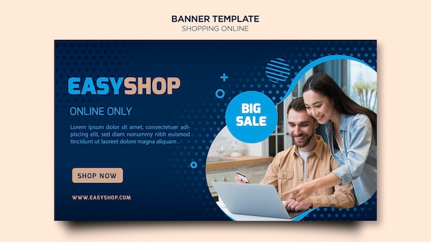 Shopping online banner tdesign