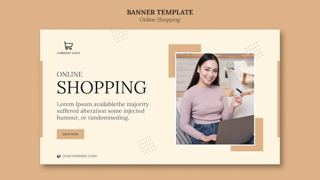 Shopping online banner template