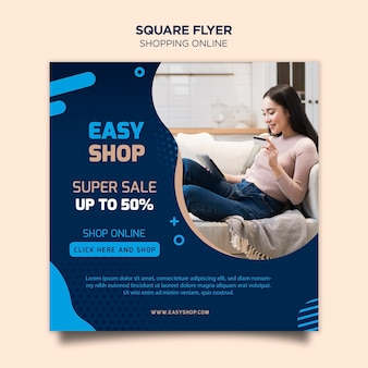Shopping online flyer template