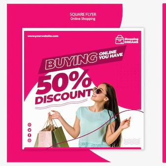 Shopping online flyer