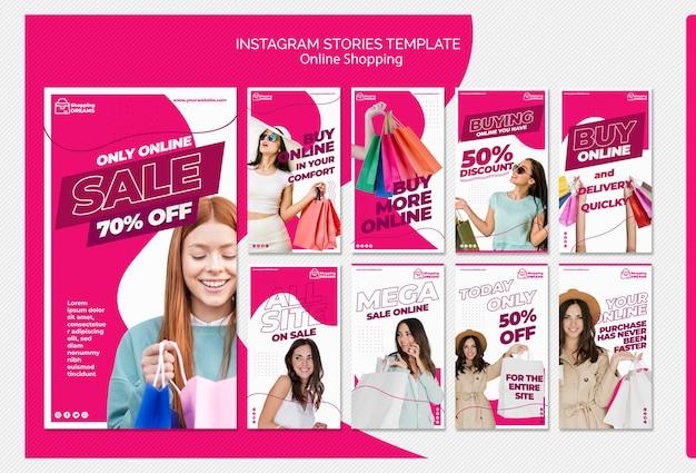 Shopping online instagram stories