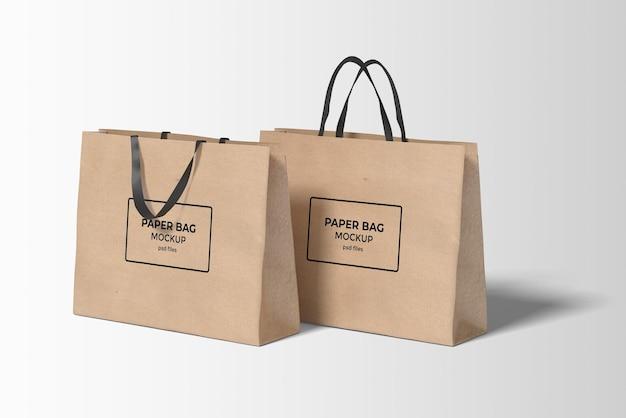 Макет бумажного пакета для покупок