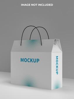 ショッピング紙袋のモックアップ