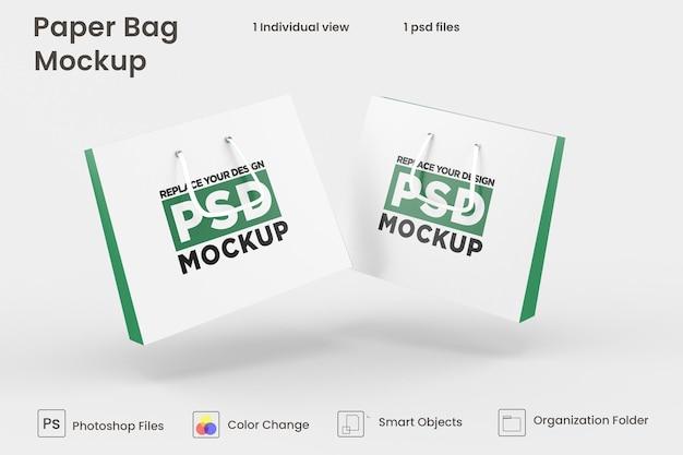 쇼핑 종이 봉투 psd 모형 디자인