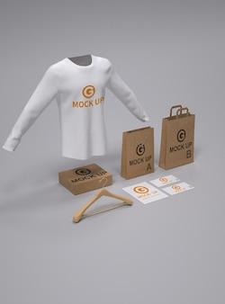 Shopping product set mockup