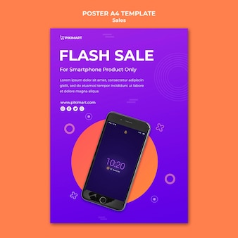 Shopping sale flyer template