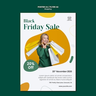 Shopping sale poster template