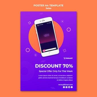 Modello di poster di vendita dello shopping