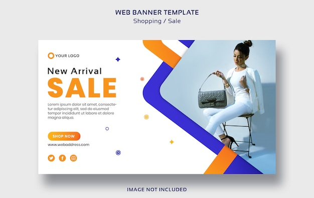 Shopping or sale web banner template