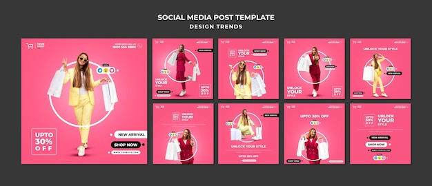 Шаблон сообщения в социальных сетях для покупок