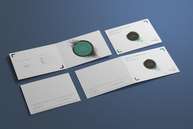 Short edge fold a4 bi-fold горизонтальный макет