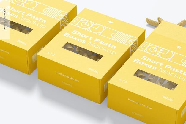Макет набора коробок для коротких макарон