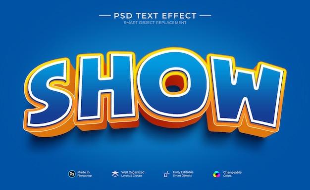 Показать шаблон пользовательского текстового эффекта