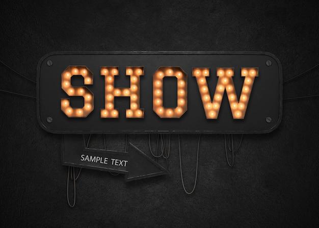 Show light sign
