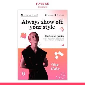 Show off your style flyer template