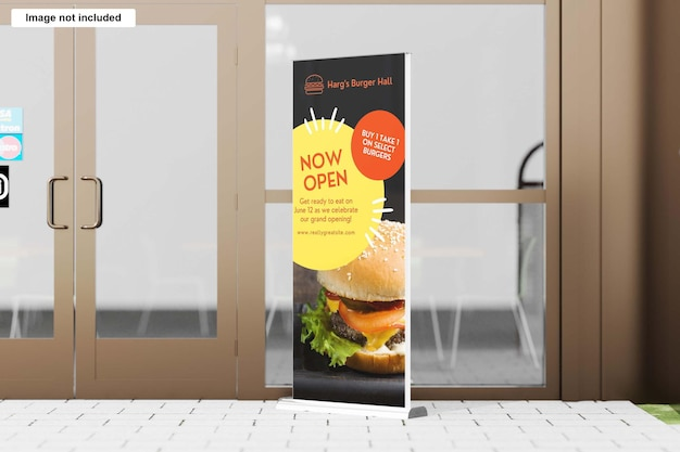 Show rollup banner mockup